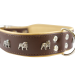 Brown Bulldog Collar by Bullymake