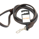 Brown Round Leash by Bullymake